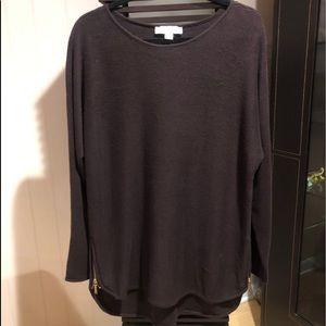 Michael Kors side zipper sweater L